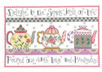 Teapots Of Love Cross Sch Pattern By Imaginating Delight Is In The Simple Joys Life Poured Out With And Kindness Model Sched On 14 Ct