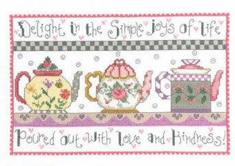 Teapots Of Love Cross Sch Pattern