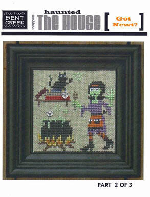 Haunted House - Got Newt? - Cross Stitch Pattern