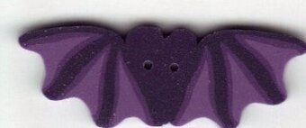 Large Purple Bat Button