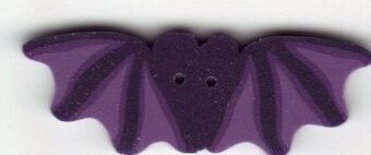 Small Purple Bat Button