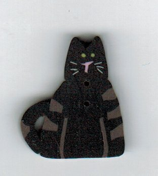 Small Black Cat - Button