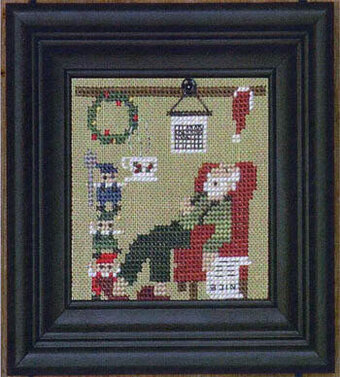 Christmas House: Santa's Cocoa - Cross Stitch Pattern