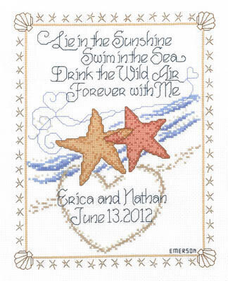 Imaginating Starfish Wedding Cross Stitch Pattern 40Stitch Cool Cross Stitch Wedding Patterns