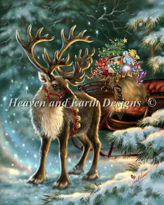 Enchanted Christmas Reindeer - Cross Stitch Pattern
