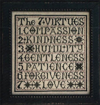 7 Virtues, The - Cross Stitch Pattern