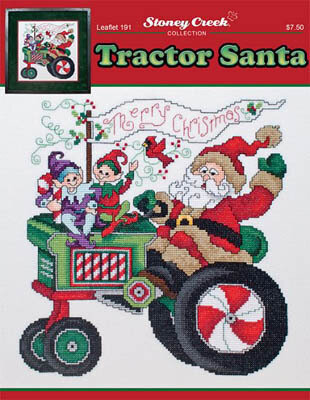 Tractor Santa - Cross Stitch Pattern