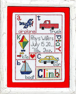 Patchwork Baby Boy - Cross Stitch Pattern
