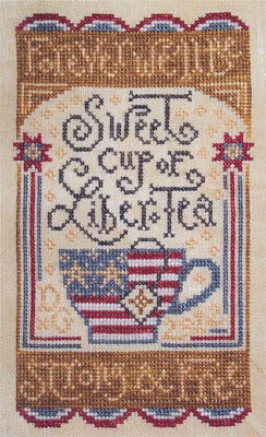 Sweet Liber-Tea - Cross Stitch Pattern