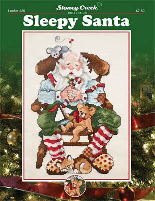 Sleepy Santa - Cross Stitch Pattern