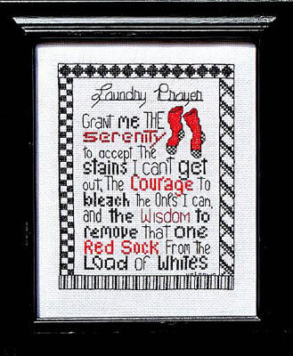 Laundry Prayer - Cross Stitch Pattern