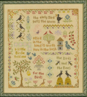 Antique Bird Sampler - Cross Stitch Pattern