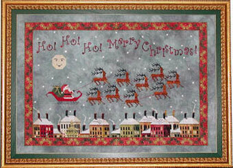 Santa's Midnight Flight - Cross Stitch Pattern
