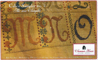 Calico Sampler #5 (M-N-O) - Cross Stitch Pattern