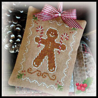 2012 Ornament 10 Gingerbread Cookie - Cross Stitch Pattern