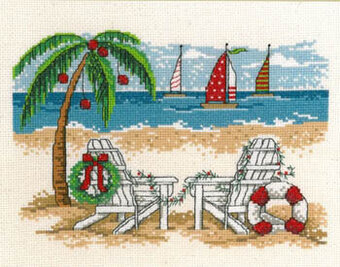 Tropical Christmas - Cross Stitch Pattern