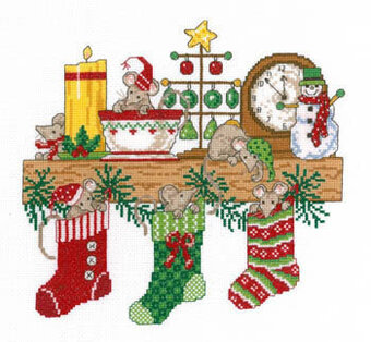 Mantel Mischief - Cross Stitch Pattern