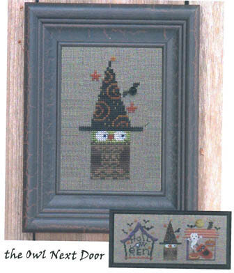 District 13-Owl Next Door - Cross Stitch Pattern