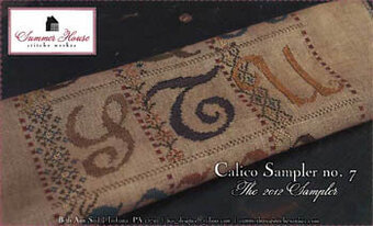 Calico Sampler #7 - S T U - Cross Stitch Pattern