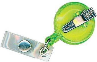 Clip-On Retracto Reel - Neon Green