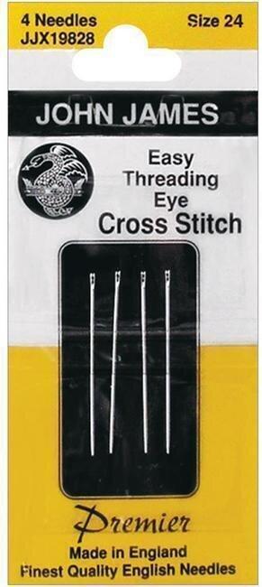 """John James English /""""Petite/"""" Tapestry Needle Set for Needlepoint ~ Size 24"""