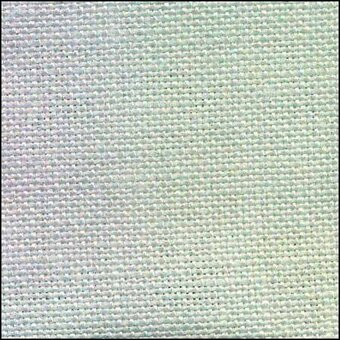 28 Count Fairy Mist with Silver Linen Fabric 19x35