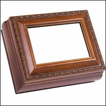 Woodgrain Rectangular Treasure Box