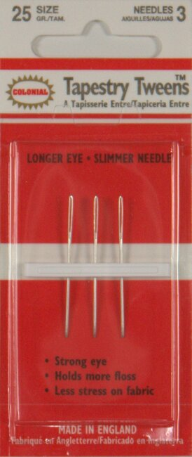 John James/Colonial Tapestry Tweens Needles Size 25