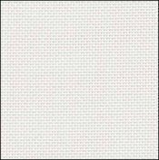 28 Count White Evenweave Fabric 9x17