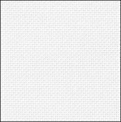 28 Count White/Silver Evenweave Fabric 17x18