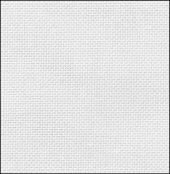 36 Count White Evenweave Fabric 17x18