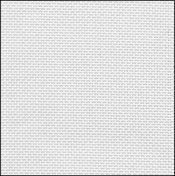 32 Count White/Silver Evenweave Fabric 17x18