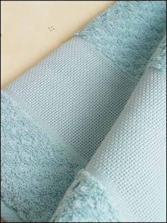 Popcorn Fingertip Towel - Sea Blue - 18""