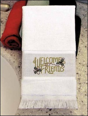 Maxton Velour Guest Towel - White