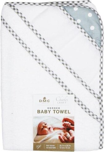 Hooded Baby Bath Towel - Grey Polka Dot