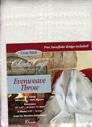 Evenweave Throw - White
