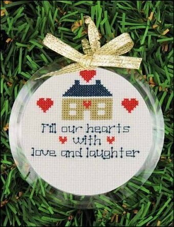 christmas ornament frame round