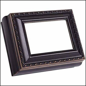 Black Rectangular Treasure Box