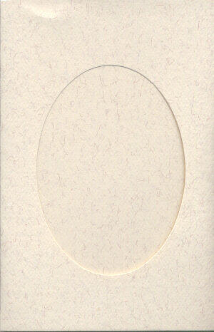Small Parchment Aperture Window Card - Oval Opening