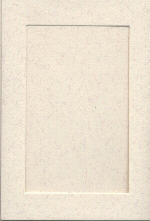 Small Parchment Card - Rectangle Opening