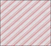 28 Count Pink Peppermint Candy Stripes Evenweave 9x17