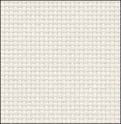 14 Count White/Silver Aida Fabric 17x36