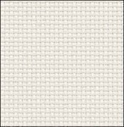 14 Count White/Silver Aida Fabric 17x18