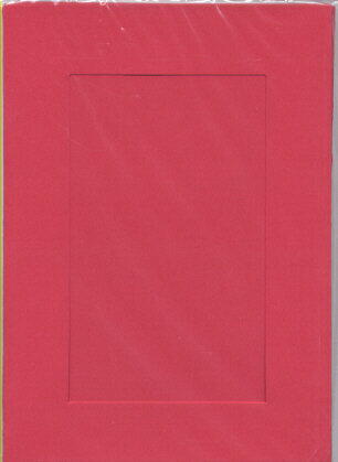 Large Red Aperture Window Card - Rectangle Opening