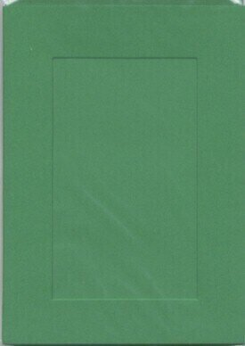 Large Green Aperture Window Card - Rectangle Opening