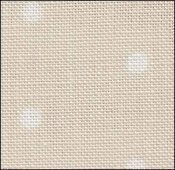 32 Count French Polka Dot Neutral Linen 18x35