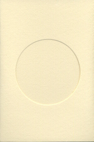 Small Ivory Aperture Window Card - Round Opening