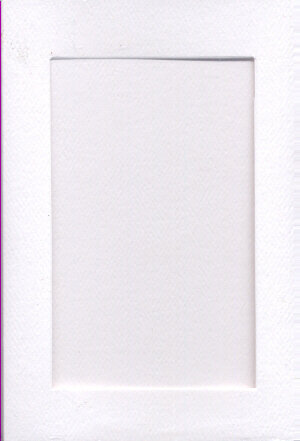 Small White Aperture Window Card - Rectangle Opening