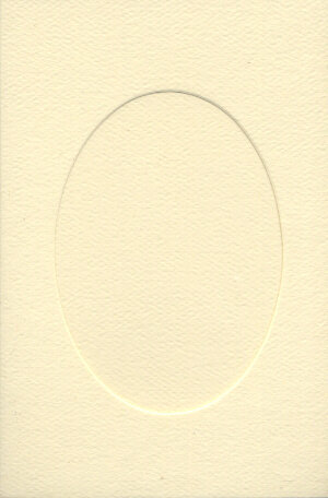 Small Ivory Aperture Window Card - Oval Opening