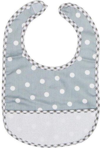 Toddler Baby Bib - Grey Polka Dot